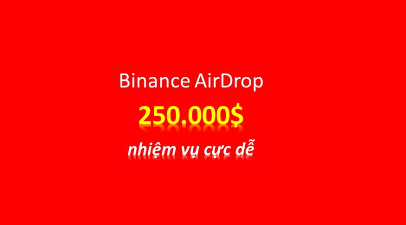 Event cực dễ nhận Free 250.000$ từ sinh nhật 03 năm Binance